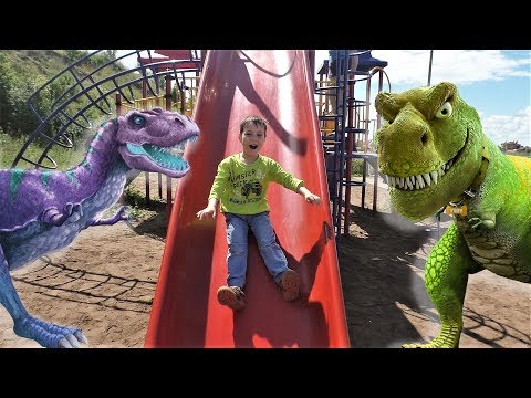 Abc Song Learn Colors And Fruits With Dinosaurs Nursery Rhymes Song Outdoor Playground Family Fun