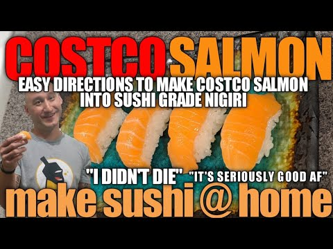 How To Make Sushi At Home From Costco Salmon