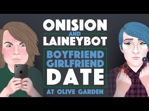 Onision & Laineybot (Boyfriend Girlfriend Date at Olive Garden)