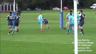 Rhys Morris rugby highlights 2018/2019