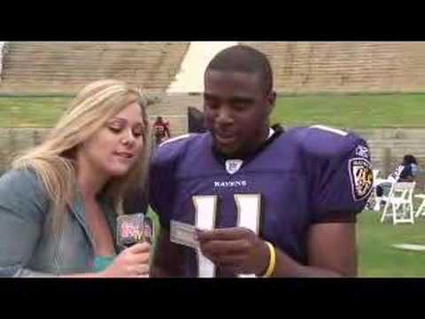 Topps 2007 NFL Rookie Photo Shoot with Troy Smith