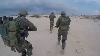 Indian GARUD Commandos with Israel's airborne unit 699 during Blue Flag 2017 joint exercise