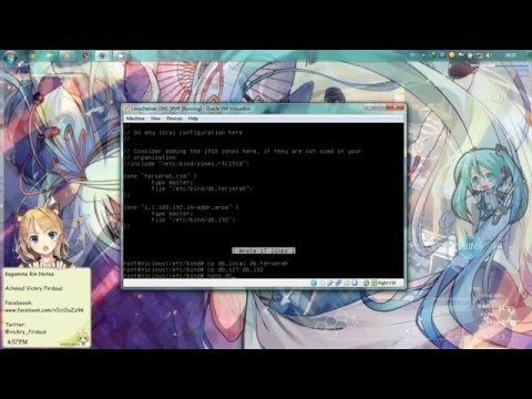 Konfigurasi DNS Server + WebServer Linux Debian VirtualBox [Achmad Vickry Firdaus:SMKN1JKT]