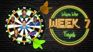 2019 Fantasy Football - Week 7 Waiver Wire Targets