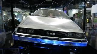 The Restored DeLorean Time Machine from Back to the Future at Universal Studios Hollywood