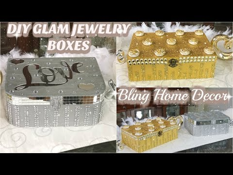 DIY ROOM ORGANIZER | GLAM JEWELRY BOX | DIY BLING ACCESSORIES BOXES