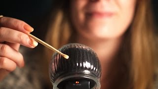 ASMR. Glass over the Mic (Tapping, Scratching)