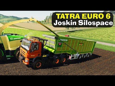 "🚜TATRA EURO 6 + ПРИЦЕП ""JOSKIN"" - ПОМОЩЬ ФЕРМЕРУ! Farming Simulator 19"