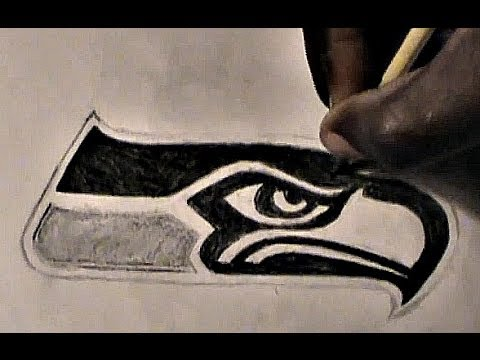 How To Draw Seattle Seahawks Logo Youtube