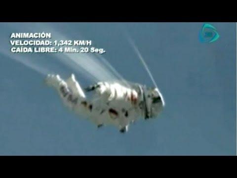 Felix BaumgartnerRompe austriaco la velocidad del sonido en caída libre desde la estratosfera