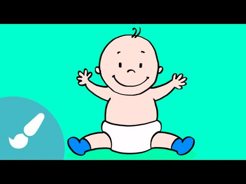 Aprende a dibujar un beb dibujos para ni os youtube - Bebes dibujos infantiles ...