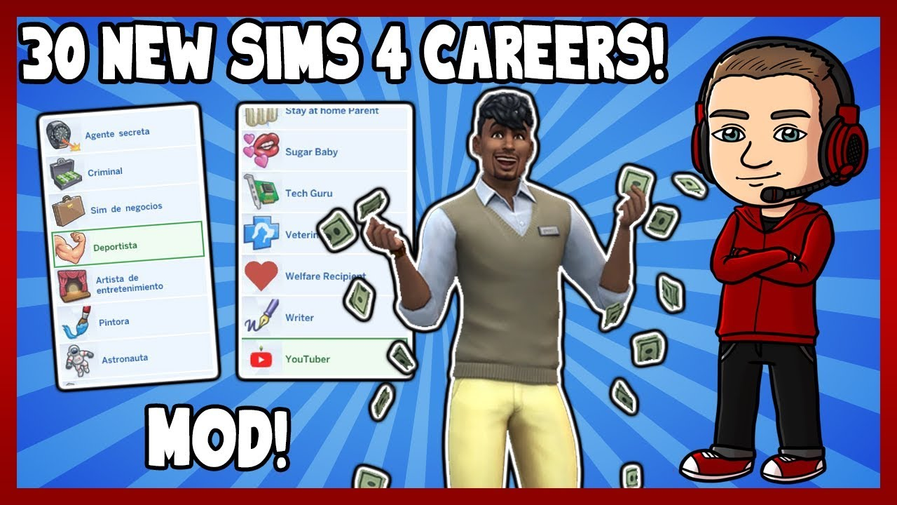 Sims 4 - 30 NEW CAREERS!!! (Mod)
