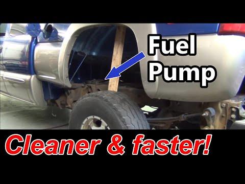 Tipped Bed Method!  GMC Fuel Pump Swap