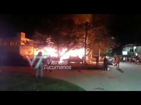 Incendio en el barrio Municipal de Concepción