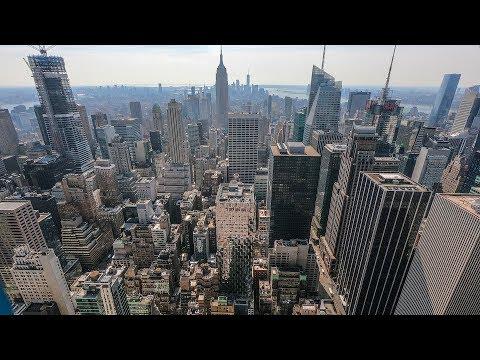 видео: Нью-Йорк с высоты птичьего полёта. Что осталось от башен близнецов.