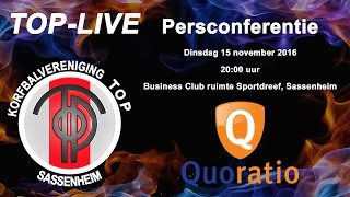 Persconferentie TOP/Quoratio, dinsdag 15 november 2016