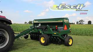 Esch No-till drill is made for easy Road Transport.  Drill can be folded without leaving the cab.