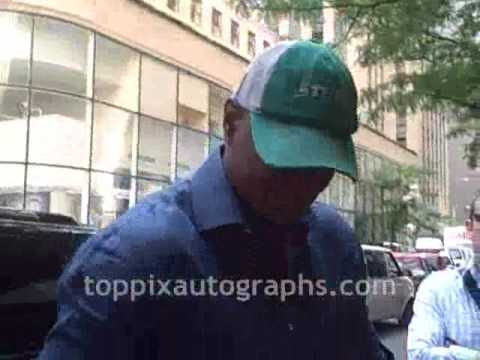 Keyshawn Johnson  Signing Autographs Late Night with Jimmy Fallon