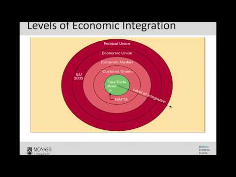Week 8- Levels Of Economic Integration