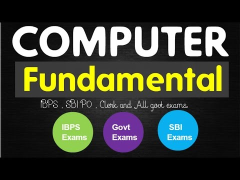 Computer Fundamental basics  Short Notes for IBPS PO , LIC AAO , SBI Banking Exams and Govt Exams