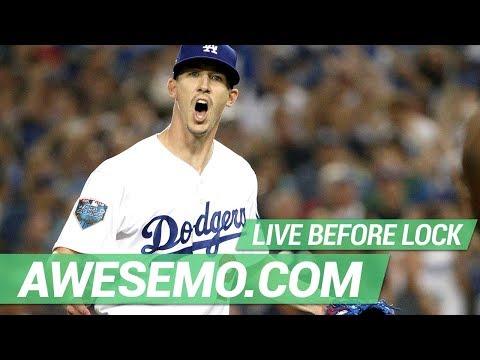 MLB DFS Live Before Lock - Mon 7/15 - DraftKings FanDuel Yahoo - Awesemo.com