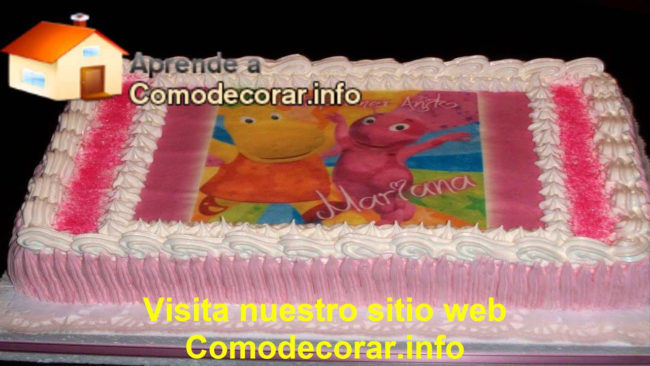 decoraciones de tortas infantiles youtube