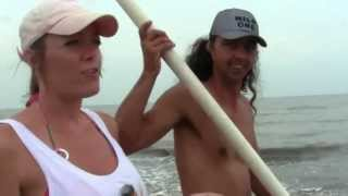 Using Pvc Pipe Has Pole Holders On The Beach To Surf Fish