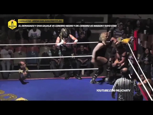 Okama vs Cerebros vs Resistencia, Caralucha en Arena San Juan Pantitlán
