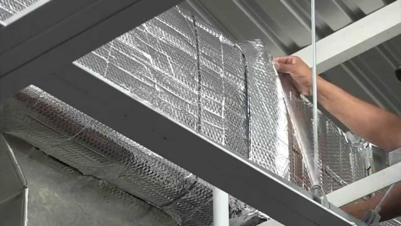 R-8 Reflective Duct Wrap Insulation - HVAC - YouTube