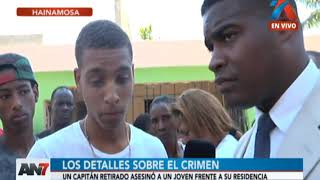 Capitán retirado asesinó a joven frente a su residencia