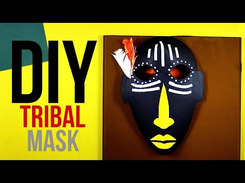 How to make a paper Tribal mask | DIY