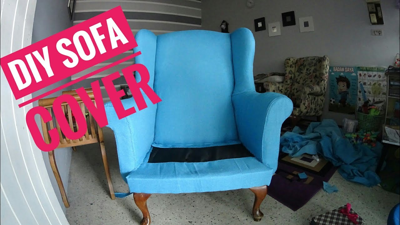 Diy Sofa Slip Cover Sarung Kusyen Part 1