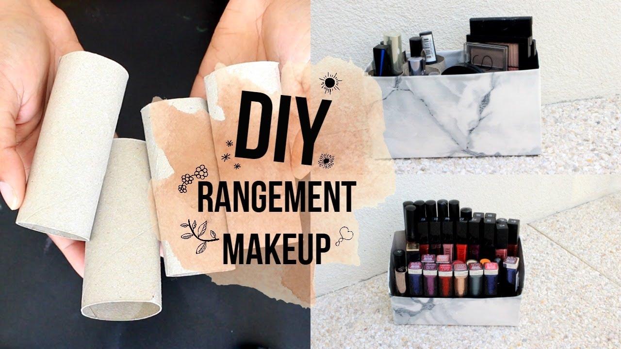 Boite Rangement Papier Wc diy rangement makeup (recyclage, papier toilettes )?