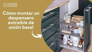 Tutorial: Montaje de despensero extraíble de rejilla de unión basal para mueble de cocina