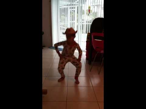 Boy dancing to Let me ride that donkey