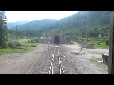 Moffat Tunnel Entered and Exited by Amtrak's Eastbound California Zephyr