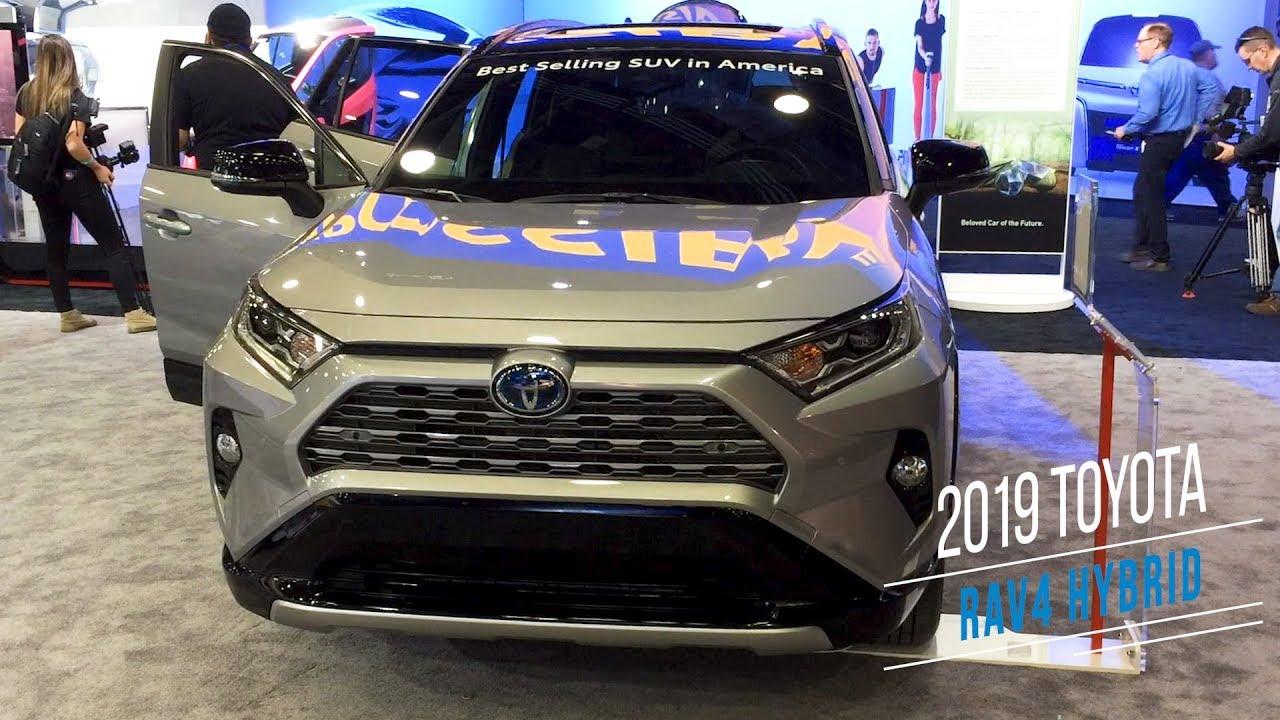 2019 Toyota Rav4 Hybrid At Detroit Auto Show Youtube
