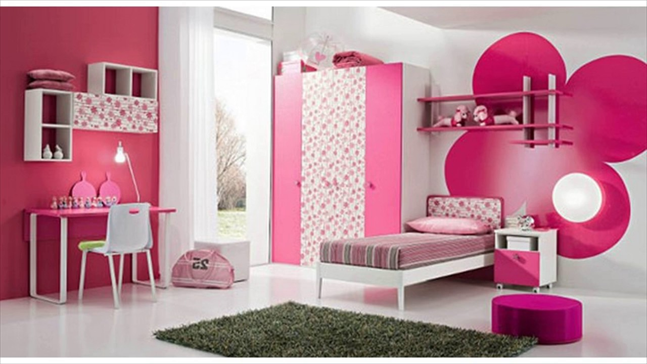 pink wall color home design ideas - youtube