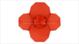 Origami Poppy (Aileen Edwin) Video Tutorial *HD*