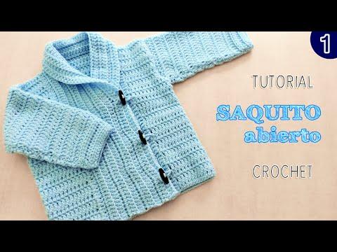 c39d1ae51 DIY Abrigo saquito UNISEX tejido a Crochet - VARIOS TALLES
