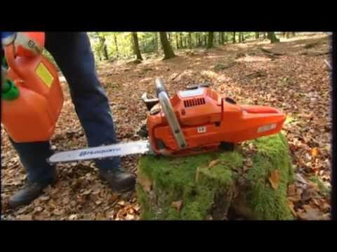 How to work with a chainsaw  Tutorial from Husqvarna