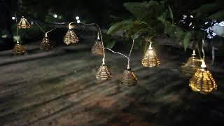 감성캠핑 라탄 무드등 플러스 LED조명 가랜드