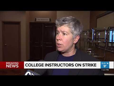 Ontario college instructors go on strike