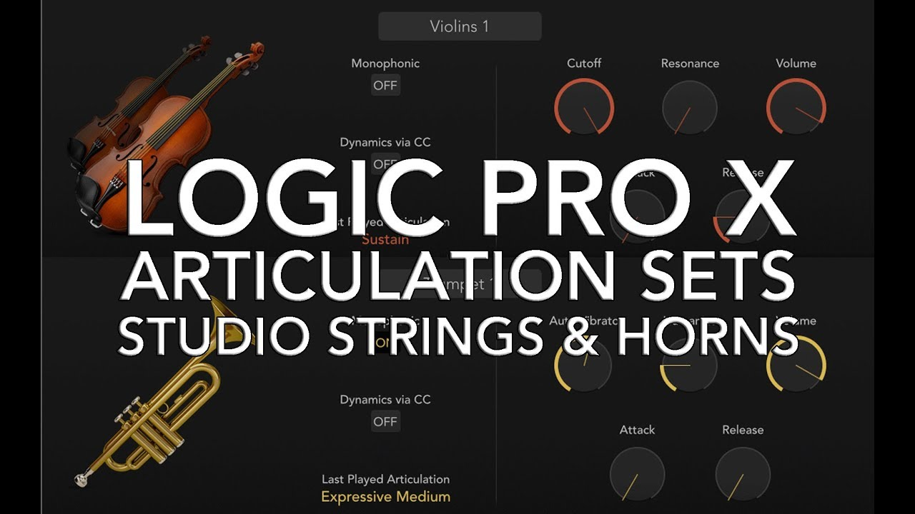 Logic Pro X Using Articulation Sets With Studio Strings Horns