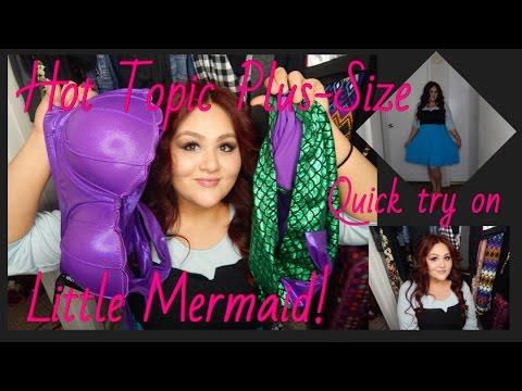 587e0e9155763 Plus size Little mermaid mini try on Haul from hot topic! - YouTube