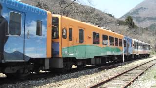 担当列車 会津鉄道 AT600形2両会津若松行き AT500形野口英世ラッピング2...