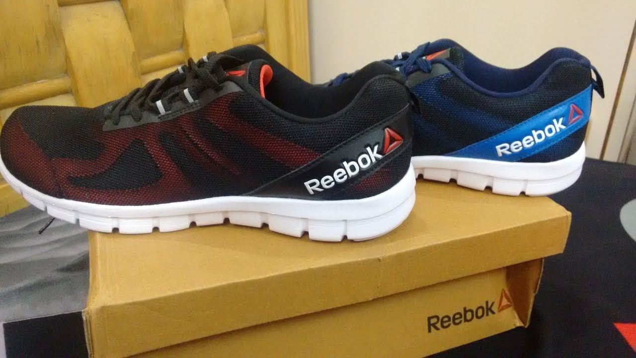 3a96c0e15 REEBOK MEN BLUE AND RED SUPER LITE 2.0 RUNNING SHOES  UNBOXING - YouTube