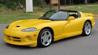 2002 Dodge Viper RT/10 Roadster Start Up, Test Drive, Exhaust, and In Depth Review