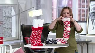 AnyBody Nordic Knit Socks on QVC