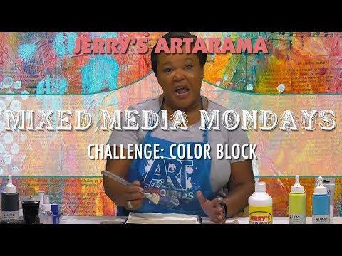 Mixed Media Monday Challenge - Color Block